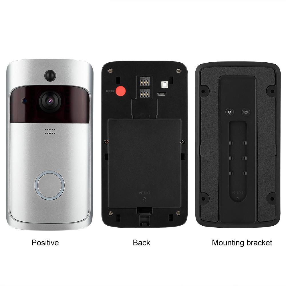 ring video doorbell video t rklingel funkklingel mit. Black Bedroom Furniture Sets. Home Design Ideas